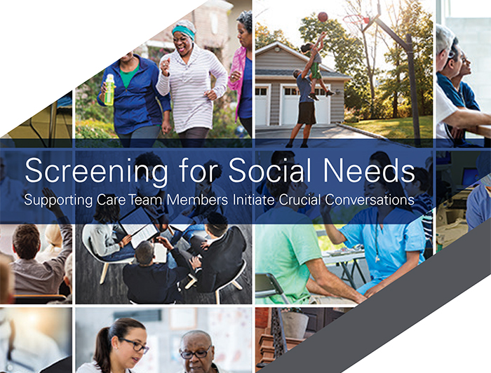 cover of screeining for social needs tool