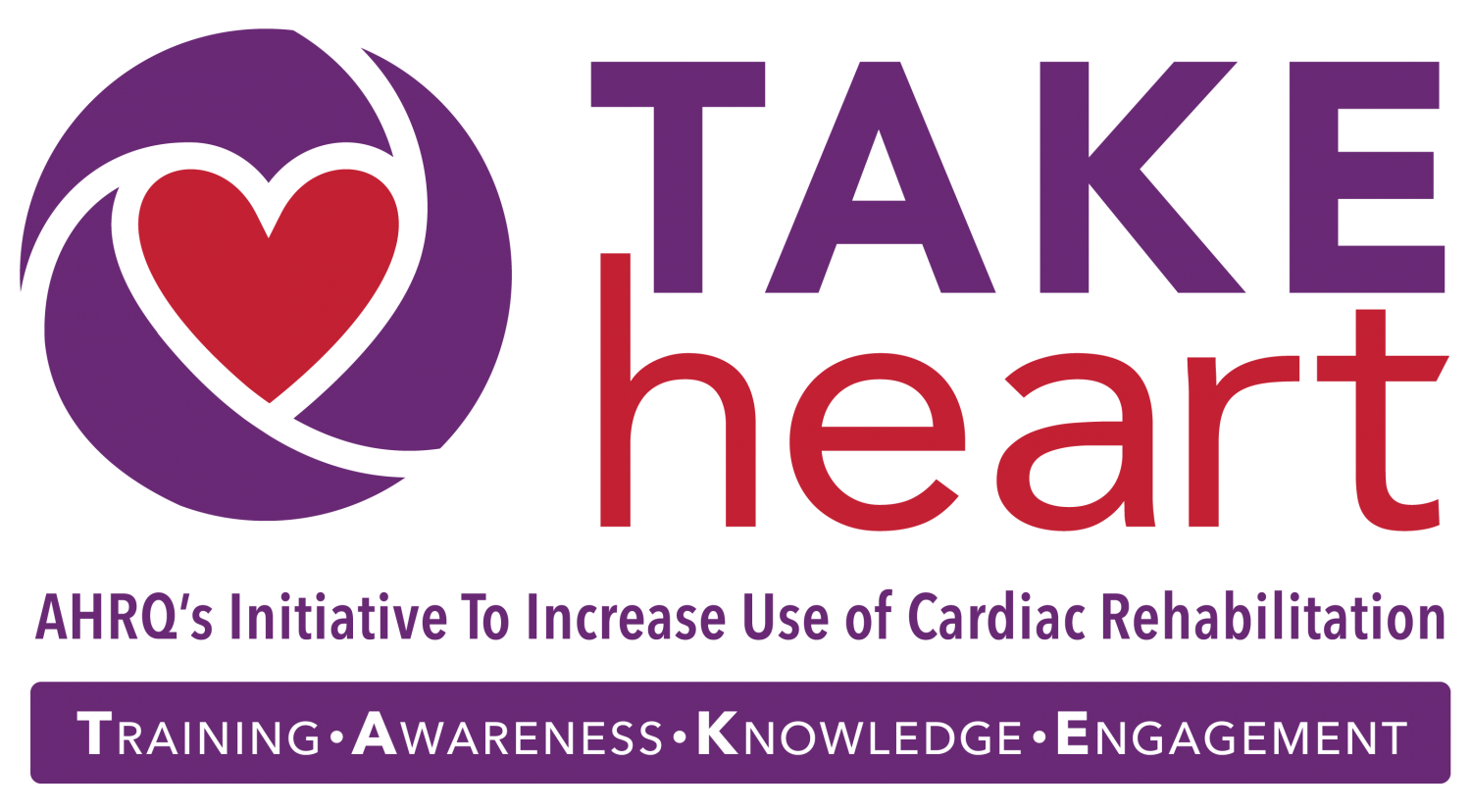TAKEheart: AHRQ's Initiative to Increase Cardiac Rehabilitation logo