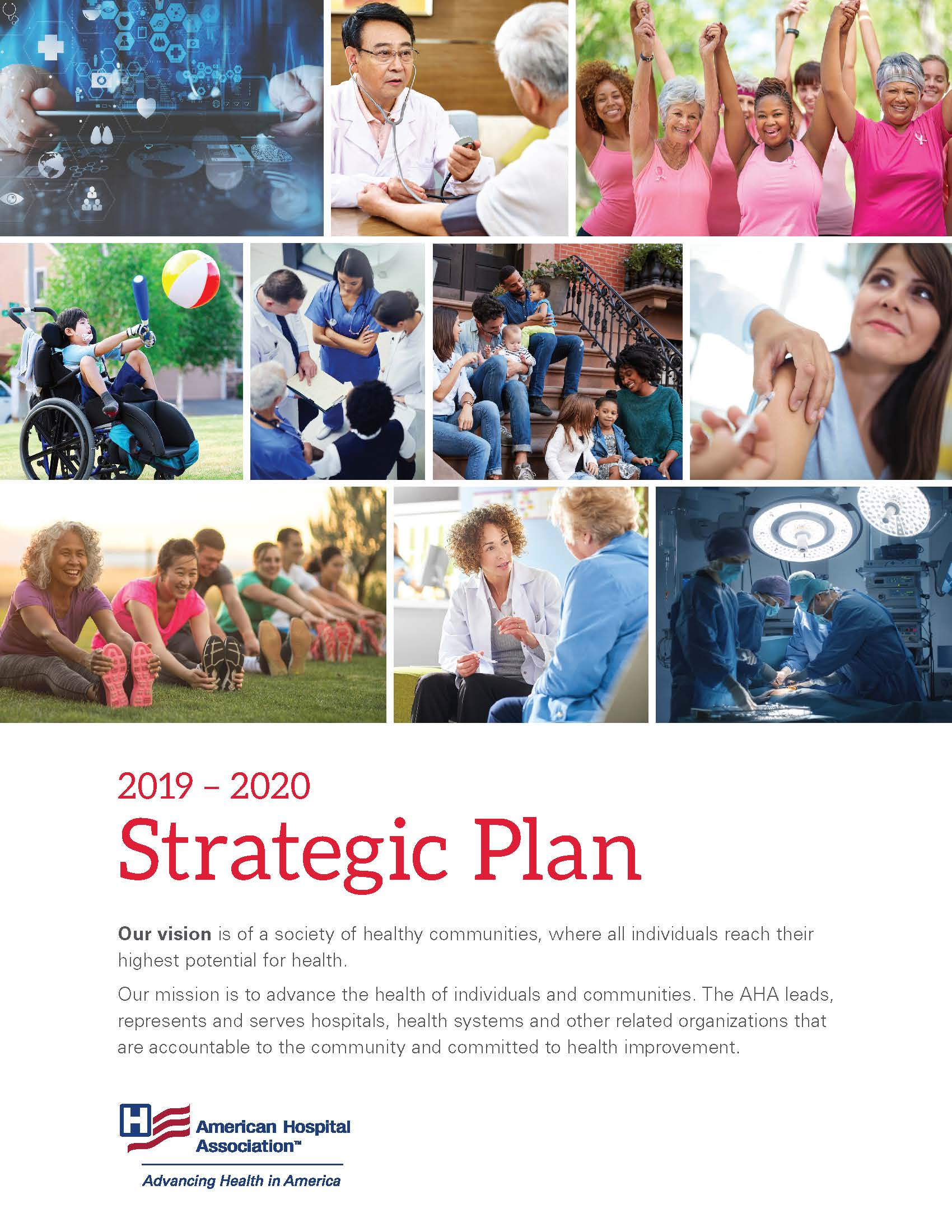 AHA Strategic Plan 2019-2020 cover